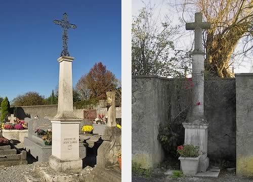 Croix du cimetière et croix monumentale Pe de Bernat