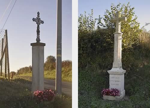 """Croix de Chemin dit """"Six Hourats"""" et croix Monumentale"""